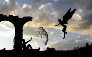 Angel-and-Human-Soul-Silhouettes-Wallpaper