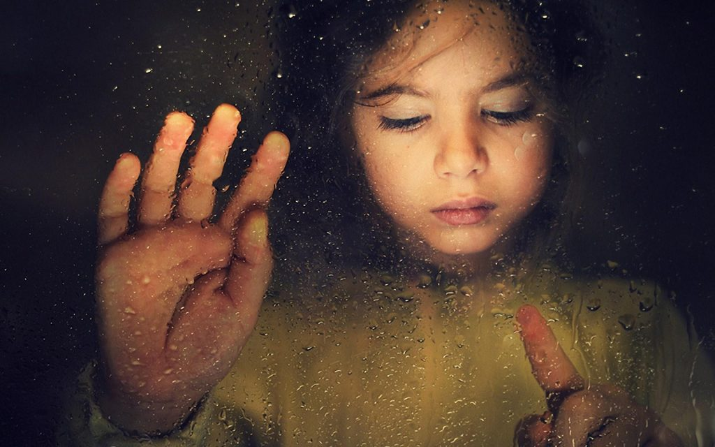 sad_child_girl_window_rain_drops_hd